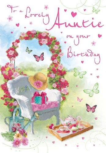 To A Lovely Auntie On Your Birthday Garden / Chair